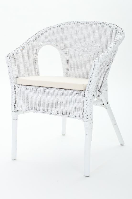 polster f r rattan oder gartenstuhl creme wei. Black Bedroom Furniture Sets. Home Design Ideas