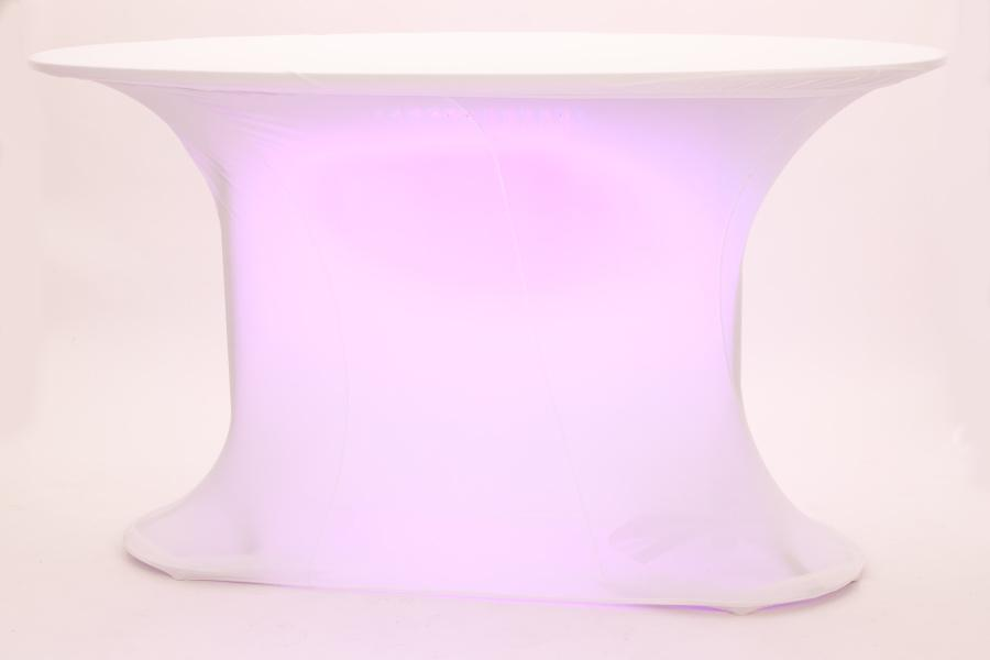 stehtisch oval mit led beleuchtung husse. Black Bedroom Furniture Sets. Home Design Ideas