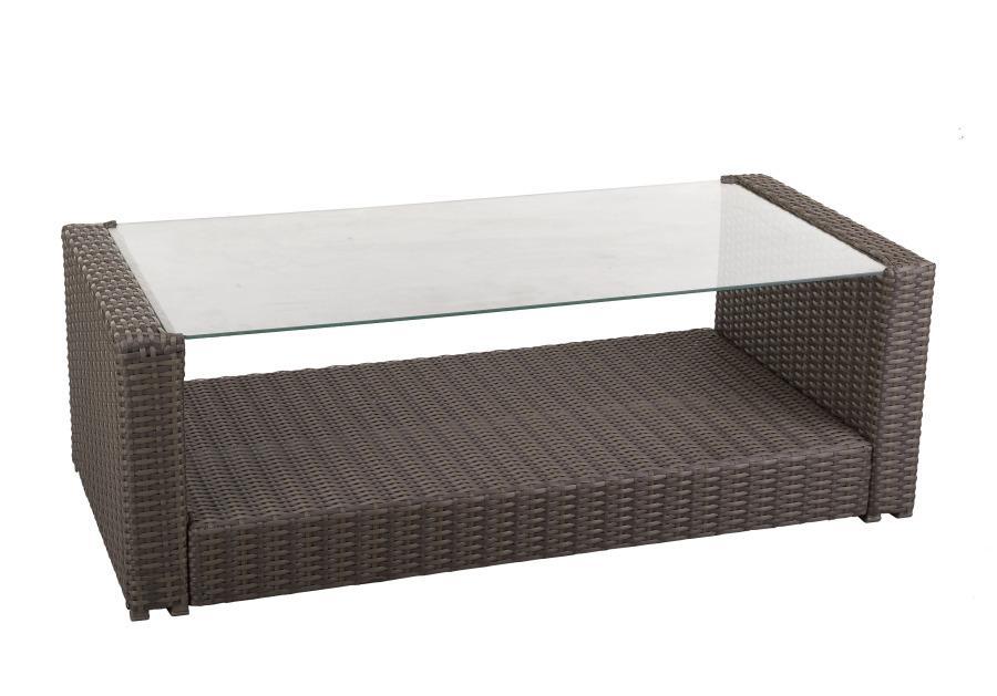 rattantisch mit glasplatte rechteckig. Black Bedroom Furniture Sets. Home Design Ideas