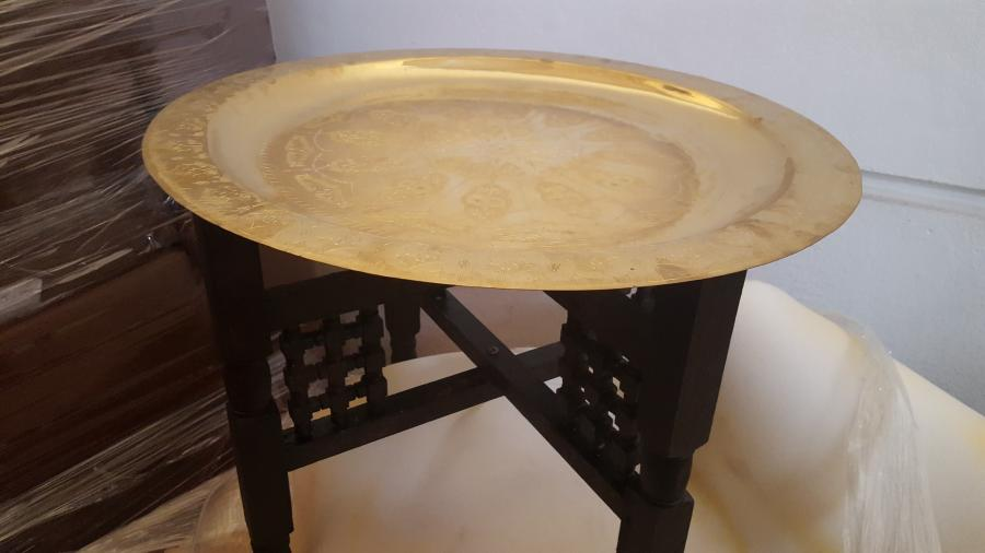 Couchtisch Rund 60 Cm : orientalischer couchtisch mit messingplatte rund 60 cm ~ Bigdaddyawards.com Haus und Dekorationen