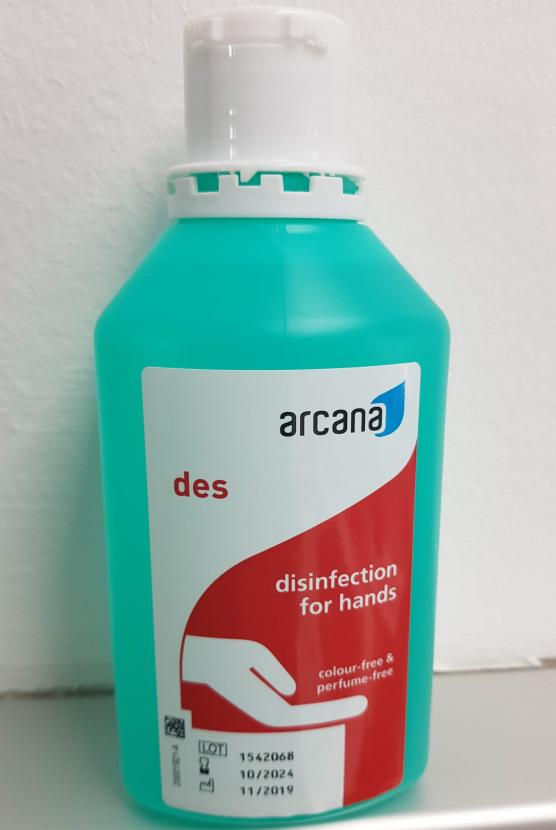 Arcana des, desinfection for hands